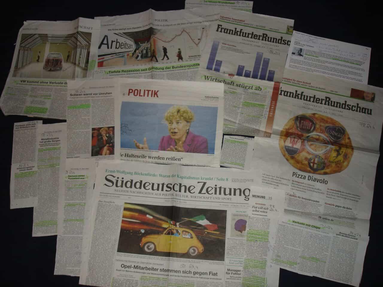 Zeitungen im Vergleich