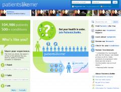 Ein Screenshot der Webseite von PatientsLikeMe (Bild: patientslikeme.com)