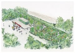 Geplanter Neubau der Obdachlosensiedlung im Frankfurter Ostpark (Bild: Frankfurter Verein)