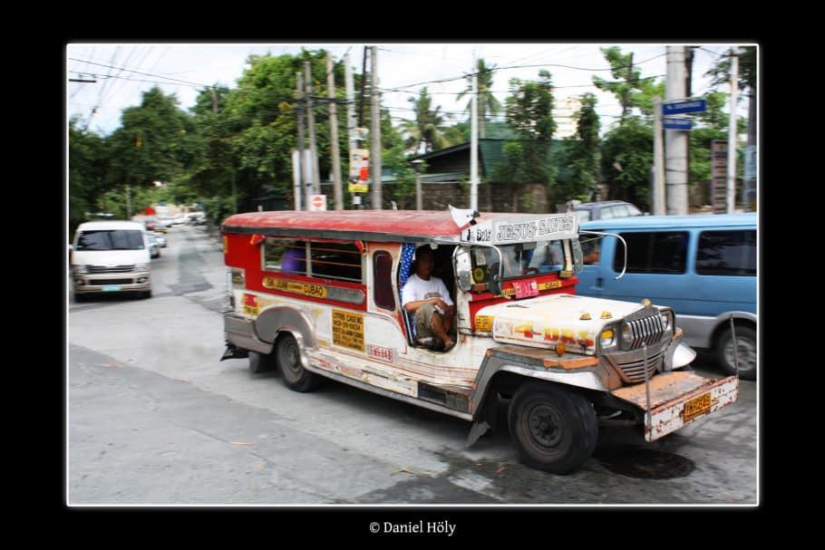Jesus saves: Jeepney in Manila (Bild: Daniel Höly)