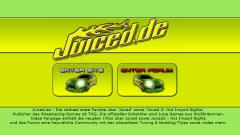 Juiced.de: Startscreen