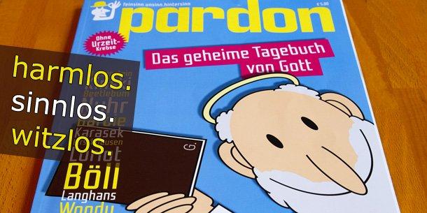 Das Satire-Magazin Pardon im JUICED-Test (Bild: eigenes)