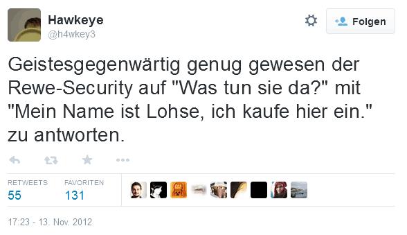 Tweet des Jahres 2012