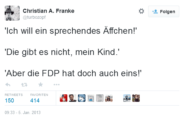 Tweet des Jahres 2013