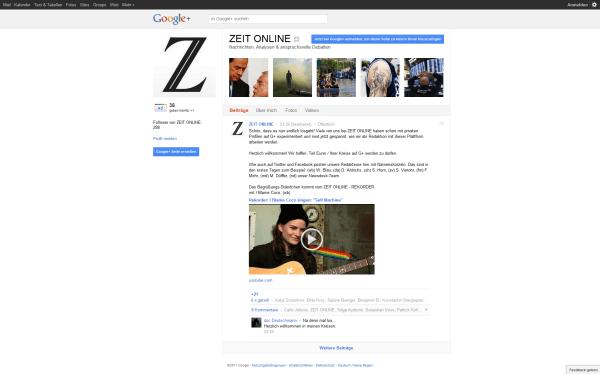 Zeit Online auf Google+