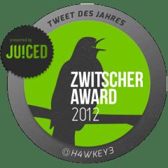Zwitscheraward 2012