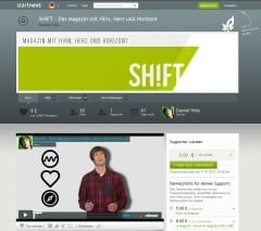 SHIFT: Crowdfunding auf Startnext