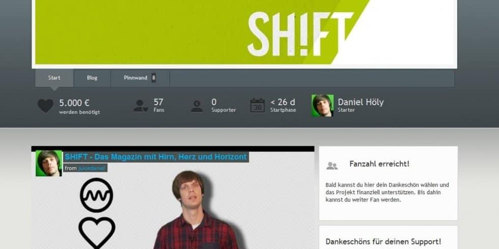 Startnext: SHIFT