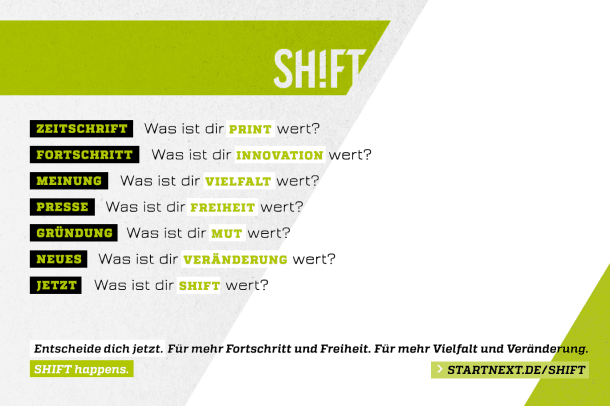 Was ist dir SHIFT wert?