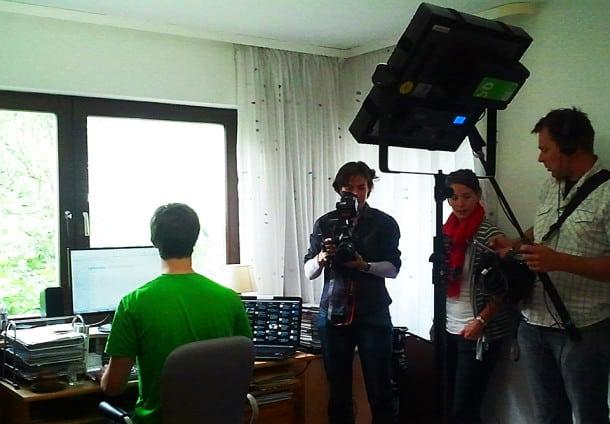 Das WDR-Fernsehteam beim Dreh (Bild: eigenes)
