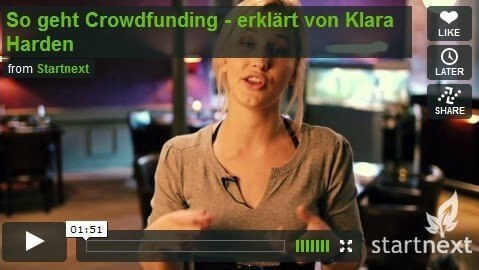 Crowdfunding in 10 Minuten - So geht Crowdfunding (Bild: Vimeo/Startnext)