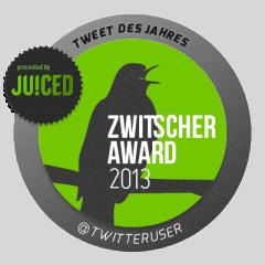 Zwitscheraward 2013