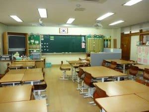 Ein typischer Klassenraum in Südkorea (Bild: Marie, CC BY-SA 2.0)
