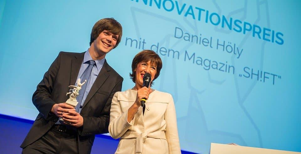 Bayerischer Printmedienpreis 2014: Innovationspreis-Gewinner Daniel Höly (Bild: Michael Haggenmüller)