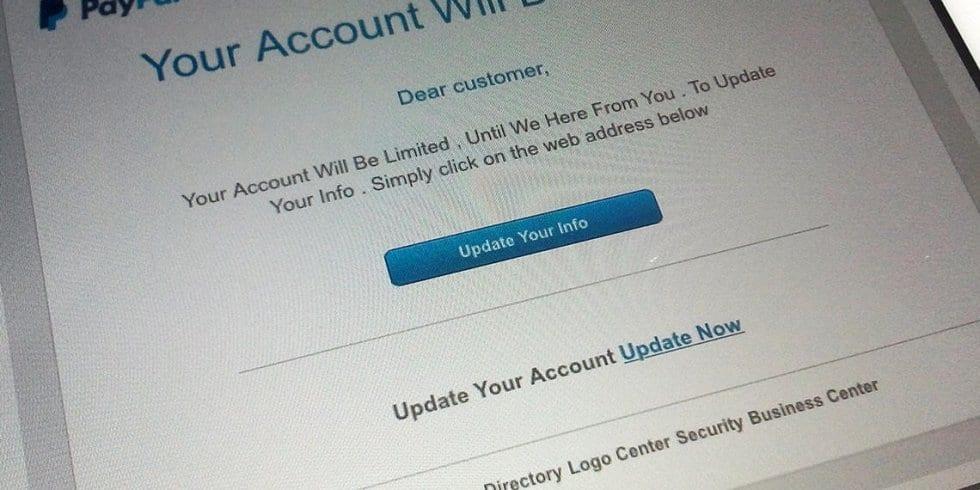 PayPal-Spammail (Bild: eigenes)