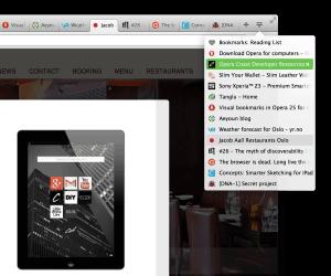 Neuer Button für Tab-Menü (Screenshot: Opera)