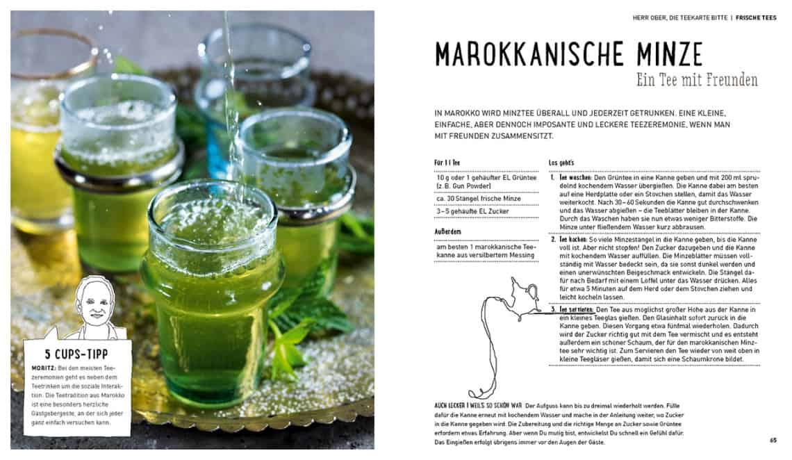 Tee. Wie man aus Wasser Freude macht - Rezept (Bild: 5 CUPS and some sugar)