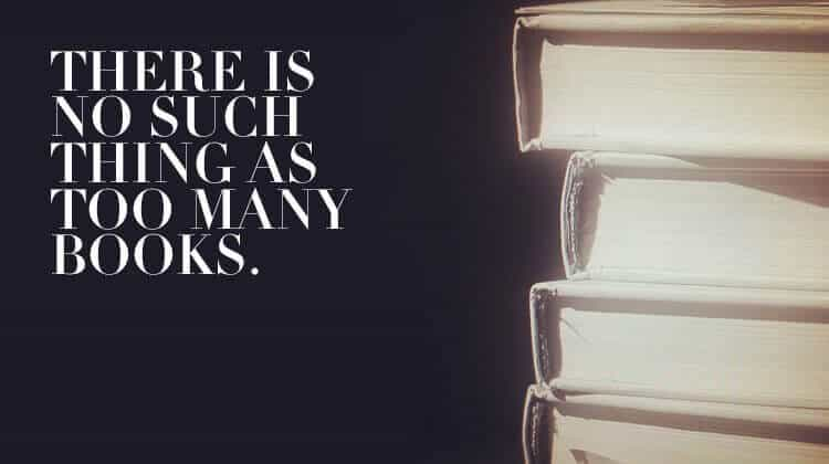 There Is No Such Thing As Too Many Books (Bild: eigenes)