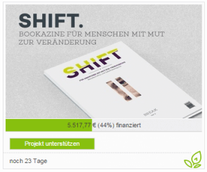 Crowdfunding-Kampagne von SHIFT