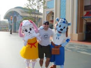 Fast wie Disneyland: Maskottchen im Everland Freizeitpark, das zum Samsung-Konzern gehört. (Bild: Martin Lewison, CC BY-SA 2.0)