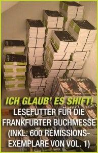 SHIFT Vol. 1 und Vol. 2 Frankfurter Buchmesse