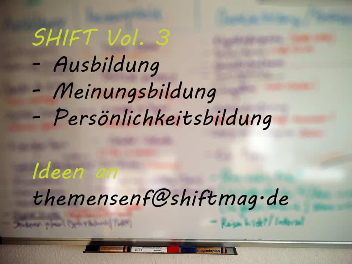 SHIFT Vol. 3 - Themensenf