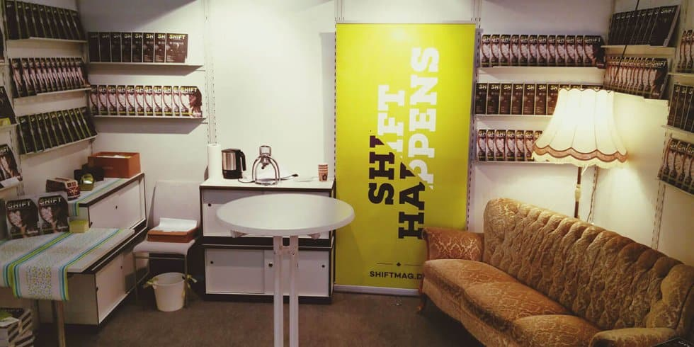 Frankfurter Buchmesse 2015: SHIFT-Stand (Bild: eigenes)