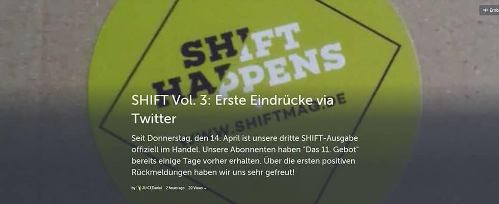SHIFT Vol. 3 - Twitter-Feedback