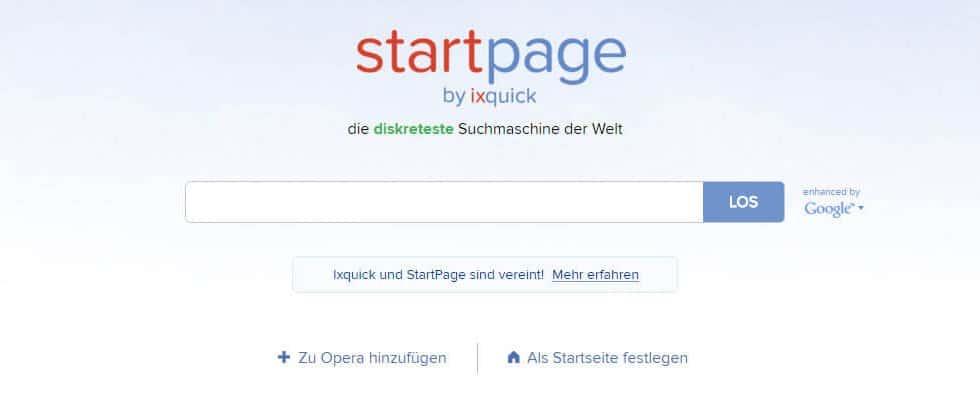 StartPage - Ixquick